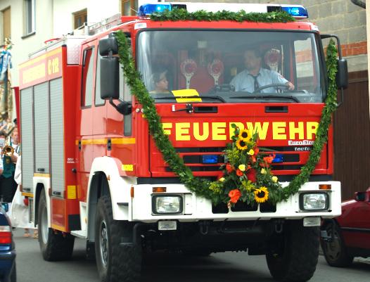 Feuerwehrauto der FFW Wargolshausen